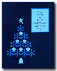 ScrapVillage Museum - I'll Have a Blue Christmas (card) - Powered by PhotoPost