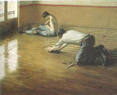 'Die Parkettschleifer', öl auf leinwand von Gustave Caillebotte (1848-1894, France)