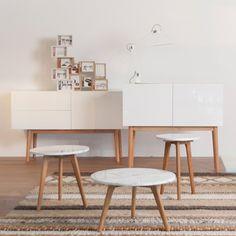 Buffet en chêne et bois blanc High On Wood (2 modèles) Zuiver