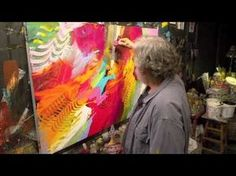 ? Jonas Gerard :: Rejoycing Rhythm III. Pause video to ask students: is he using mostly warm colors, or mostly cool? How did he create TEXTURE in his painting? Did he repeat colors? Are there any colo