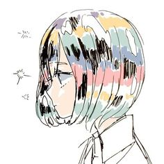 Find images and videos about anime, manga and color head on We Heart It - the app to get lost in what you love. Anime W, Fanarts Anime, Anime Art Girl, Manga Art, Anime Girls, Aesthetic Art, Aesthetic Anime, Art Sketches, Art Drawings