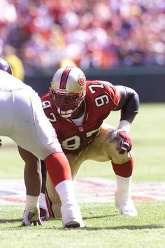 Who Wore Their Number Best - Bryant Young 49ers Players, Football Players, Football Helmets, Football Is Life, School Football, Niners Girl, 49ers Nation, Nfl San Francisco, American Football