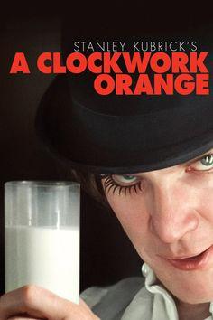 A Clockwork Orange (1971) Stanley Kubrick'ten bir şaheser. Başrolünü Malcolm McDowell'in oynadığı film bir romandan uyarlama. Bence hukuk okuyan herkese izletilmeli. Filmin bu afişini zor buldum. Diğer afişlere göre daha sade ve başarılı.