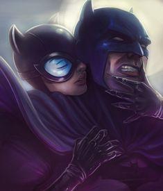 ArtStation - Batman and Catwoman Commission, Victor Garcia Cenescail Black Catwoman, Batman And Catwoman, Im Batman, Batman Artwork, Batman Comic Art, Batman Comics, Heavy Metal Comic, Victor Garcia, Red Robin