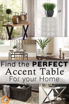 Finding an accent table that's perfect for your home is difficult but we're here to make it easy. Check out these trending styles: