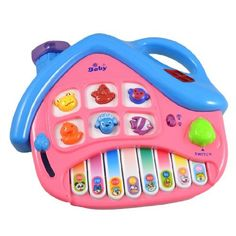 """Como Baby Blue Pink House Decor Colorful Animal Print 8 Keys Electric Organ Toy by Como. $6.97. Weight : 175g;Package Content : 1 x Electric Organ Toy. Product Name : Electric Organ Toy;Fit for : for Toddler Babies. Material : Plastic;Main Color : Blue, Pink. Light Color : Red, Purple;Size : 22.5 x 18.5 x 3cm/ 9"""" x 7.3"""" x 1.2"""" (L*W*T). Design : House Decor, 8 Keys, 6 Animal Noise;Powered By : 3 x AA Batteries (Not Included here). This house decor electric organ..."""