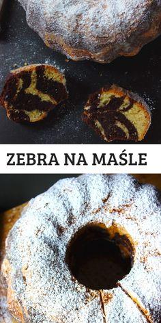 Ciasto Zebra na maśle | Słodkie Gotowanie Doughnuts, Cereal, Breakfast, Recipes, Food, Bakken, Morning Coffee, Essen, Eten