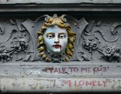 """Talk to me cuz I'm lonely"" Street Art, East Village, Manhattan, New York City"