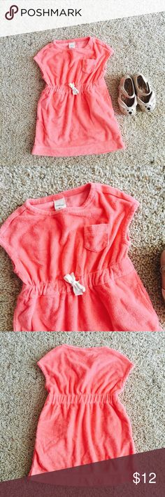 J crew crewcut velour dress Super sweet salmon crewcuts dress with Side pockets. In very good condition . No trades. Crewcuts Dresses Casual