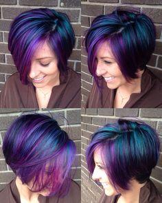 Beautiful GALAXY hair! I had so much fun doing this