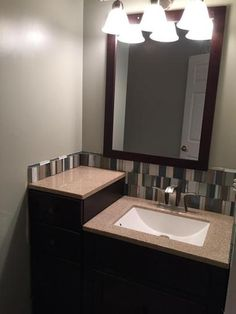 glacier bay modular 24-1/2 in. vanity in java with solid surface