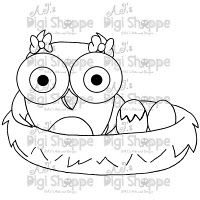 $3.00 Mommy Owl Digital Stamp from A.J.'s Digi Shoppe™