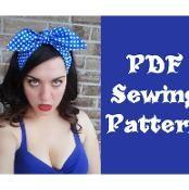 Rockabilly Hair Wrap Sewing Pattern - via @Craftsy