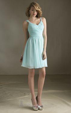 2014 V-Neckline Bridesmaid Gown Knee-length Short Maid of Honor Dress vestidos de madrinhas de casamento Prom Dress $89.00
