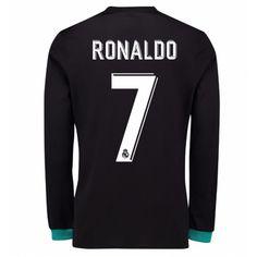 Real Madrid Cristiano Ronaldo 7 Udebanetrøje 17-18 Lange ærmer #Billige  #Fodboldtrøjer
