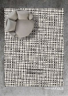 Clean lines, modern contemporary rug design. We love this rug and we are sure you will too. MADE IN ANY COLOUR AND SIZE Contemporary Rugs, Clean Lines, South Africa, Carpet, Colour, How To Make, Handmade, Design, Color