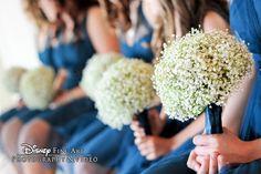 Bridesmaid bouquets of sweet baby's breath! Pretty elegant and still simple! Floral Wedding, Wedding Colors, Wedding Decor, Wedding Flowers, Wedding Ideas, Disney Weddings, Fairytale Weddings, Cinderella Wedding, Bridesmaid Bouquets