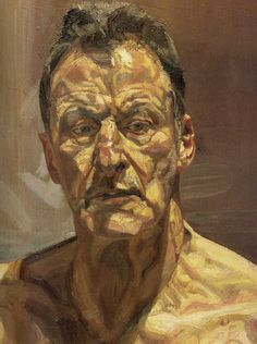 Lucien Freud, Self Portrait  Oil on Canvas
