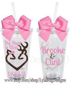 The Hunt is Over Wedding Design Personalized by LylaBugDesigns, $15.00 my sis-n-law abi would love this