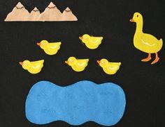 5 little Ducks Childrens Felt Board Flannel Board Story Song Set