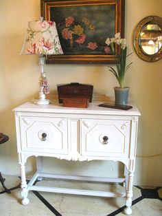 Vintage Cabinet painted with Chalk Paint® Decorative Paint by Annie Sloan in Old Ochre