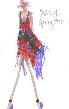 Purple Red DKNY Illustration