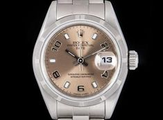 Rolex Date Ladies Stainless Steel Pink Dial 79190 Dating Women, Rolex Date, Rolex Watches, Stainless Steel, Lady, Pink, Pink Hair, Roses
