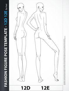 Drawing Fashion - Body Template Illustration