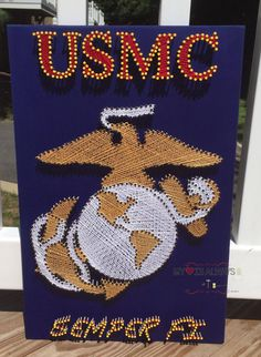 Custom String Art:  USMC Eagle & Anchor by MyHeartIsAlwaysHome