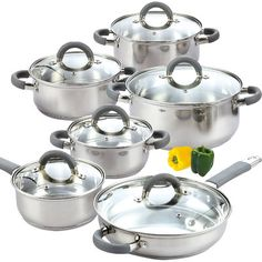 calphalon tri-ply stainless steel 13-pc cookware set @ belk