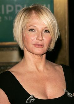 Ellen Barkin Short Bob Hairstyles for Women Over 50
