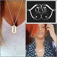Razor blade necklace now available for $13  as seen non #rihanna #riri #chic #necklaces    We are official open! Glam up with accessories today! Go to    ✨theLuxeCollective.com✨Follow @Luxe Collective   @Luxe Collective @Luxe Collective   #Luxecollective #Luxe #collective #luxury #fashionaccessories #jewelry #costumejewelry #earrings #rings #necklace #trends #style #stylish #clothes #accessories