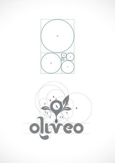 Oliveo is a Spanish based Olive Oil Company. Oliveo Olive Oil logo by Studio, via Behance Inspiration Logo Design, Icon Design, Brand Design, Brand Identity Design, Design Design, Golden Ratio In Design, Logo Golden Ratio, Logo Generator, Logo Creator