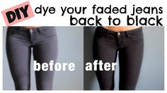 How to dye your faded jeans back to black!