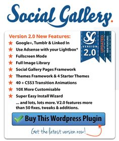 Social Gallery Version 2.0 Released!