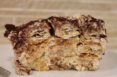 Tiramisù croccante con biscotti di sfoglia