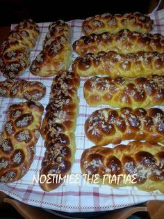 Cookbook Recipes, Cooking Recipes, Greek Recipes, Hot Dog Buns, Waffles, French Toast, Food And Drink, Easter, Bread