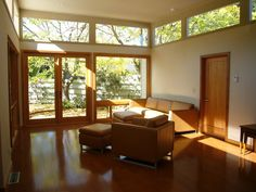 White,cream Family Room Color Theme and Modern Decorating Style -  Light,  Windows, Eichler &  French Doors