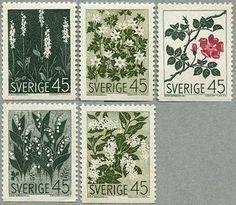 Swedish flora stamps, 1968