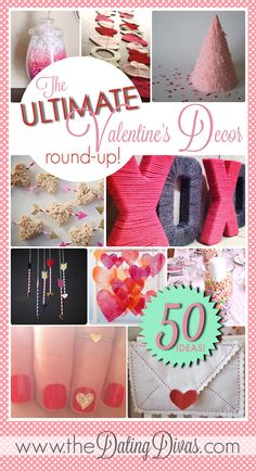 SUCH cute decor ideas for Valentine's Day! www.TheDatingDivas.com