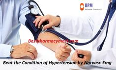 Hypertension also known as high blood pressure, is a long-term medical condition in which the blood pressure in the arteries is persistently elevated. Today most of the population around the world is suffering from hypertension. Increased blood pressure can cause your blood vessels to weaken and bulge, forming an aneurysm. If you are also dealing with high blood pressure then, buy Norvasc 5mg online from Best Pharmacy Mart and get rid from high blood pressure.