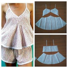 Sleep wear top pattern Order via line : (with modellistepattern sleepwear sleepwearpattern bajutidur polabajutidur *been so busy lately but we are Fashion Sewing, Diy Fashion, Ideias Fashion, Pajama Pattern, Top Pattern, Diy Clothing, Sewing Clothes, Dress Sewing Patterns, Clothing Patterns