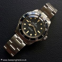 Stunning Unpolished 1983 Rolex 5513 Maxi Dial Submariner