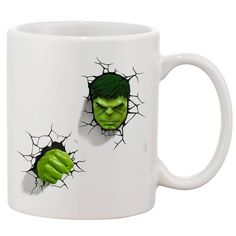 Hulk The Avengers White 11 oz. Printing Ceramic Coffee Mug