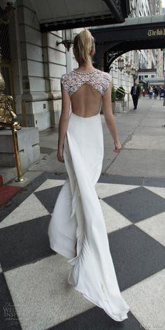 inbal dror 2016 wedding dress with straight across illusion cap sleeve a line wedding dress embellished shoulders slit skirt style 15 bkv keyhole
