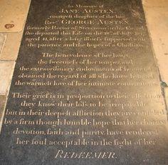 Jane Austen's grave, Winchester