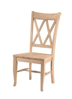 International Concepts Unfinished Wood Double X Back Dining Chair Set Of 2