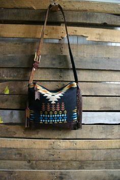 Tribal/ Navajo wool purse  with leather by MercyGreyDesignCo, $160.00