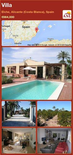 Villa in Elche, Alicante (Costa Blanca), Spain ►€664,000 #PropertyForSaleInSpain