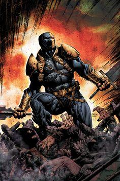 Marvel counter part - Deathstroke - Comic Vine Deadpool Deathstroke, Deathstroke The Terminator, Deathstroke Batman, Comic Book Artists, Comic Books Art, Comic Art, Comic Poster, Comic Book Villains, Comic Book Heroes